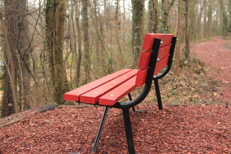 Bench overlooking Gamble Park